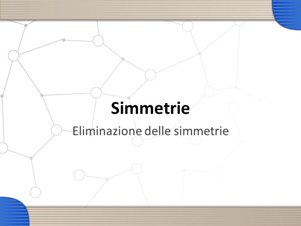 Simmetrie Eliminazione delle simmetrie
