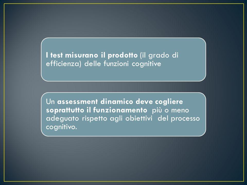 Aspetti come la motivazione, ladattamento alle istruzioni sono essenziali nell assessment dinamico, in quanto danno informazioni sul modo di procedere del soggetto.