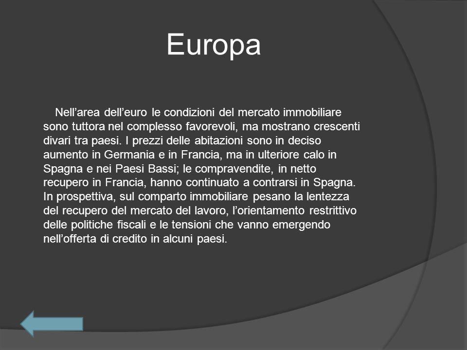Europa Nellarea delleuro le condizioni del mercato immobiliare sono tuttora nel complesso favorevoli, ma mostrano crescenti divari tra paesi.