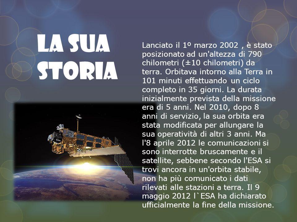 La sua storia Lanciato il 1º marzo 2002, è stato posizionato ad un altezza di 790 chilometri (±10 chilometri) da terra.