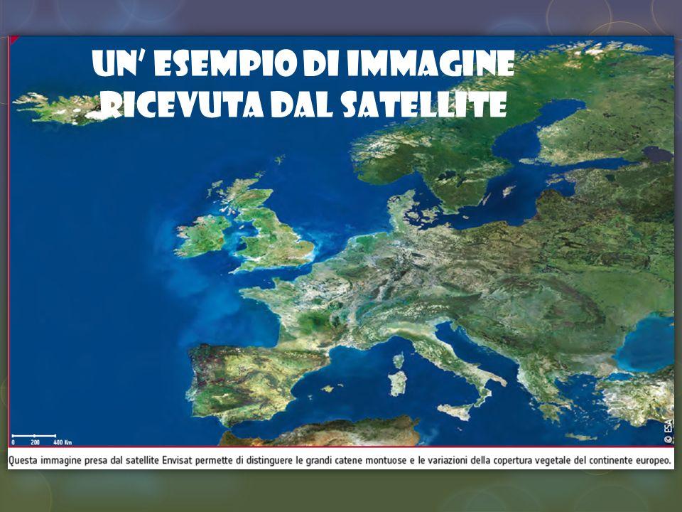 Un esempio di immagine ricevuta dal satellite
