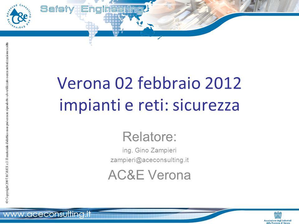 www.aceconsulting.it © Copyright 2007 AC&E S.r.l Il materiale didattico non può essere riprodotto e/o utilizzato senza autorizzazione scritta Verona 0