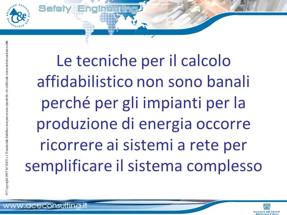 www.aceconsulting.it © Copyright 2007 AC&E S.r.l Il materiale didattico non può essere riprodotto e/o utilizzato senza autorizzazione scritta Le tecni
