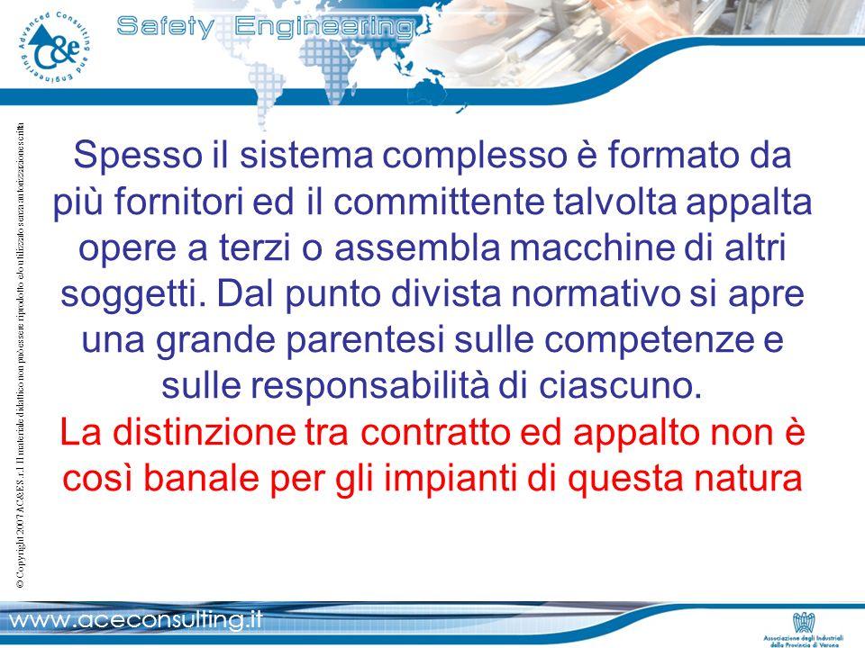 www.aceconsulting.it © Copyright 2007 AC&E S.r.l Il materiale didattico non può essere riprodotto e/o utilizzato senza autorizzazione scritta Spesso i