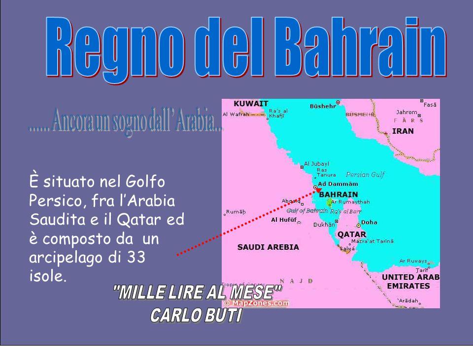 È situato nel Golfo Persico, fra lArabia Saudita e il Qatar ed è composto da un arcipelago di 33 isole.