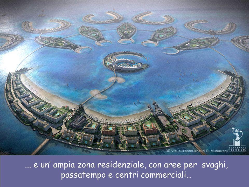 Il porticciolo ha 200.000 metri quadrati, per 350 imbarcazioni. … e cè anche un club di golf