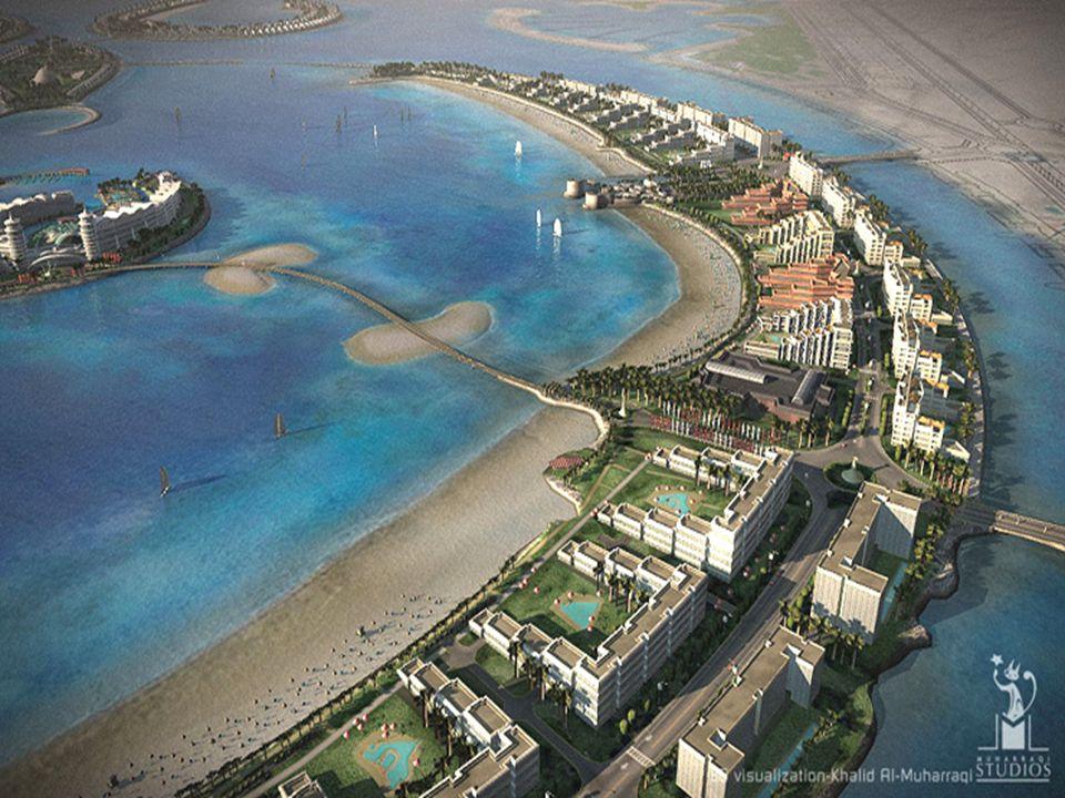 ... e un ampia zona residenziale, con aree per svaghi, passatempo e centri commerciali…