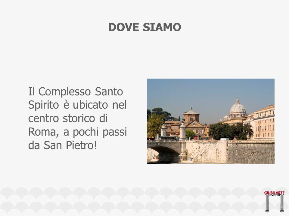 Il Complesso Santo Spirito è ubicato nel centro storico di Roma, a pochi passi da San Pietro.
