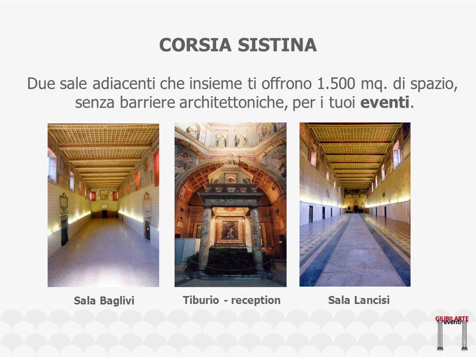 CORSIA SISTINA Due sale adiacenti che insieme ti offrono 1.500 mq.