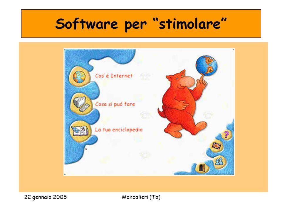 22 gennaio 2005Moncalieri (To) Software per stimolare