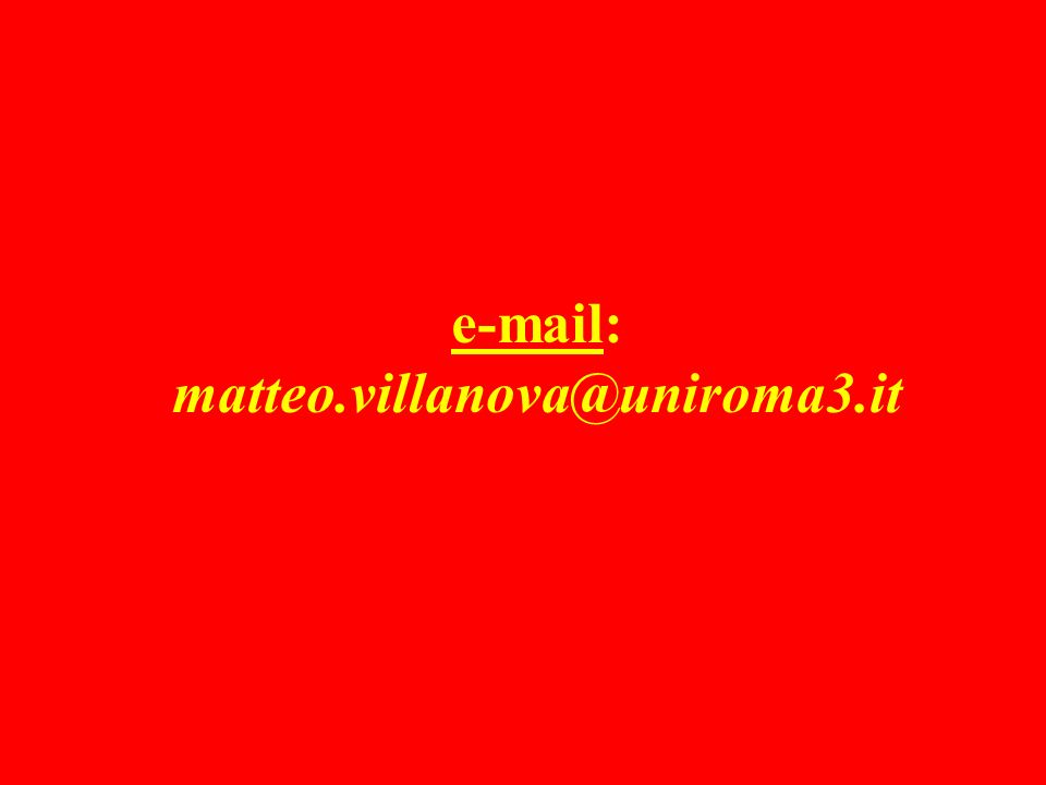 e-mail: matteo.villanova@uniroma3.it