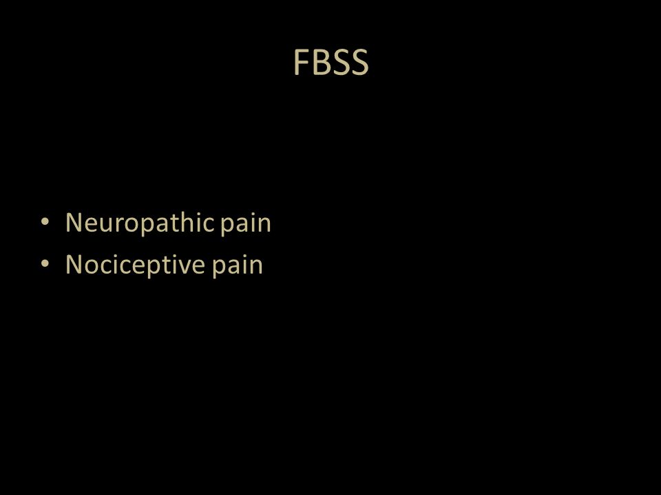 Neuropathic pain Nociceptive pain