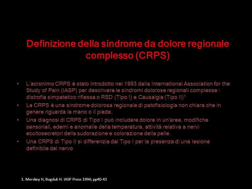 IASP (International Association for the Study of Pain) Criteri diagnostici 1 1.