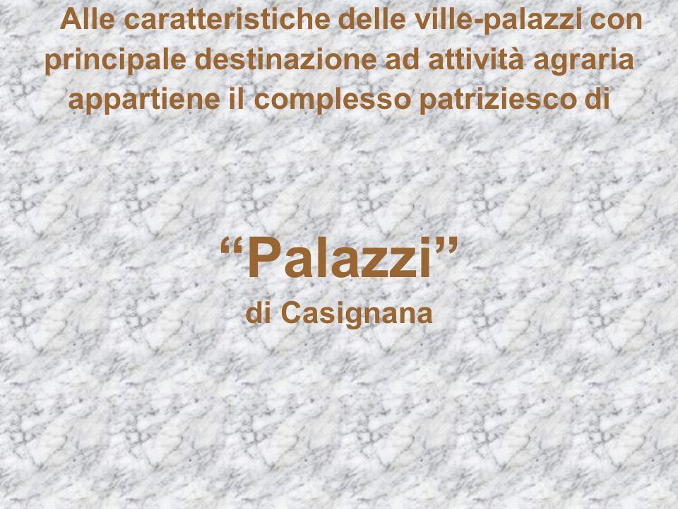 Alle caratteristiche delle ville-palazzi con principale destinazione ad attività agraria appartiene il complesso patriziesco di Palazzi di Casignana