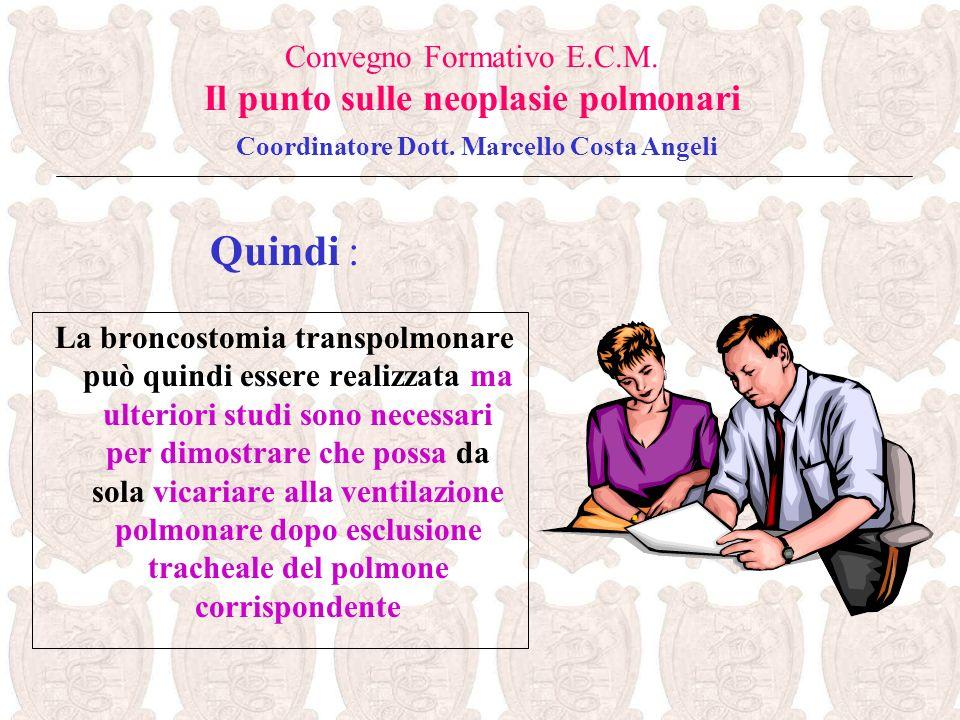 La broncostomia transpolmonare può quindi essere realizzata ma ulteriori studi sono necessari per dimostrare che possa da sola vicariare alla ventilaz