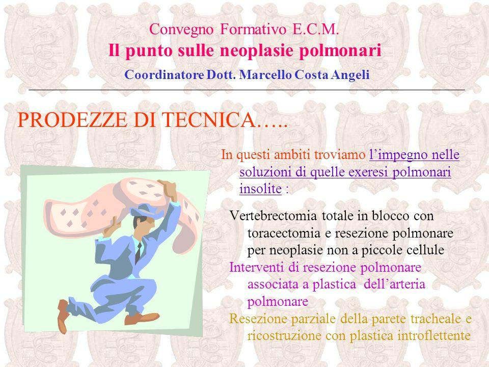 Vertebrectomia totale in blocco con toracectomia e resezione polmonare per neoplasie non a piccole cellule Interventi di resezione polmonare associata