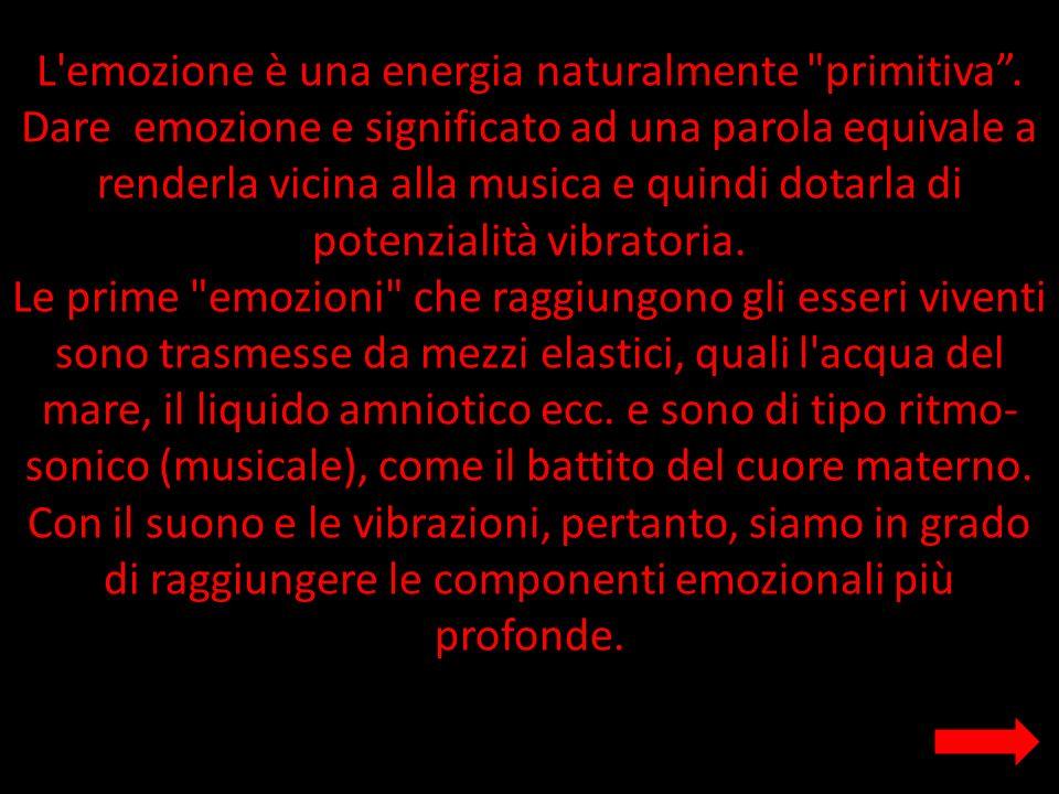 L'emozione è una energia naturalmente