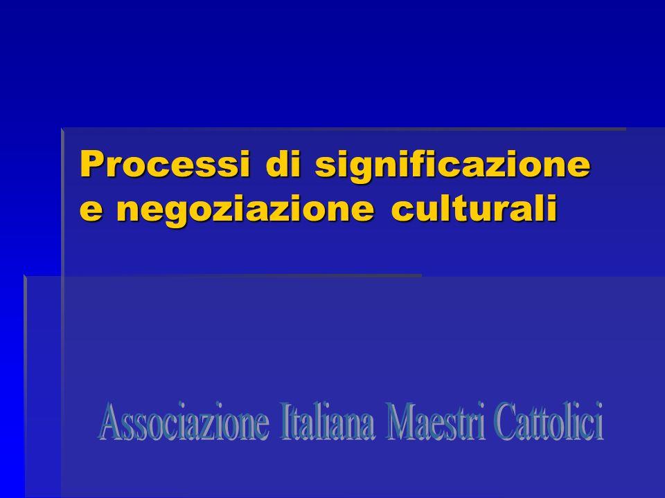 Processi di significazione e negoziazione culturali