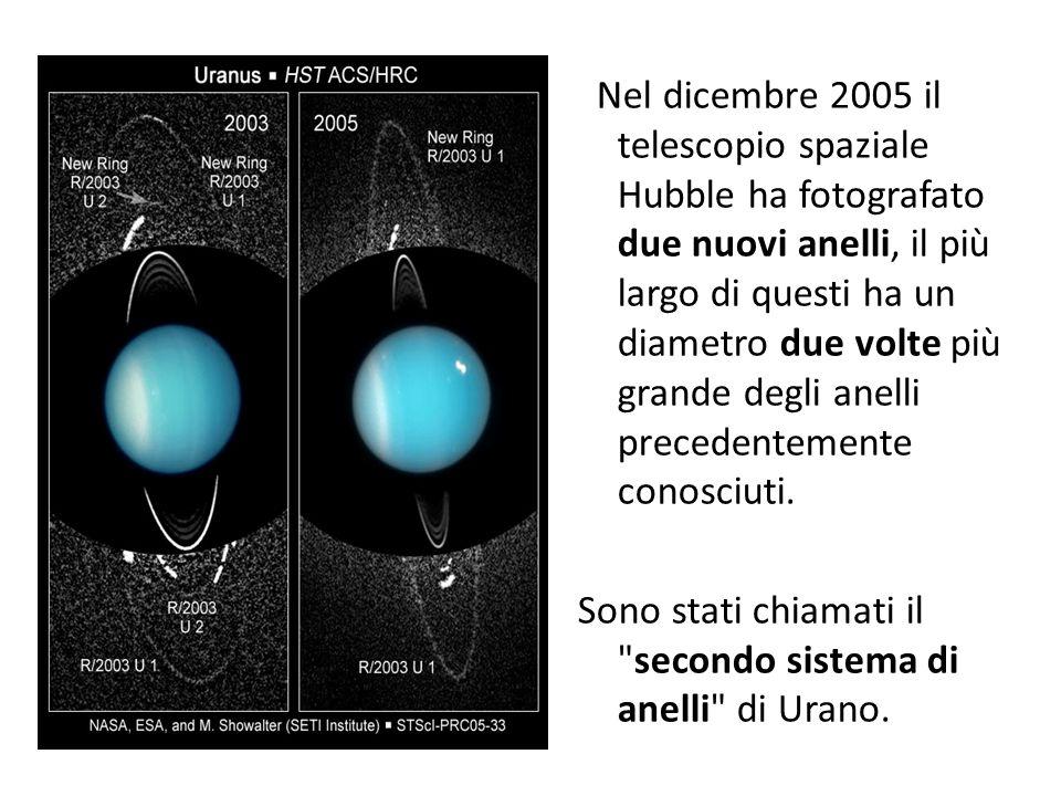 Nel dicembre 2005 il telescopio spaziale Hubble ha fotografato due nuovi anelli, il più largo di questi ha un diametro due volte più grande degli anel