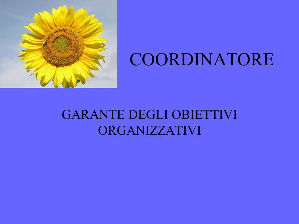 COORDINATORE GARANTE DEGLI OBIETTIVI ORGANIZZATIVI
