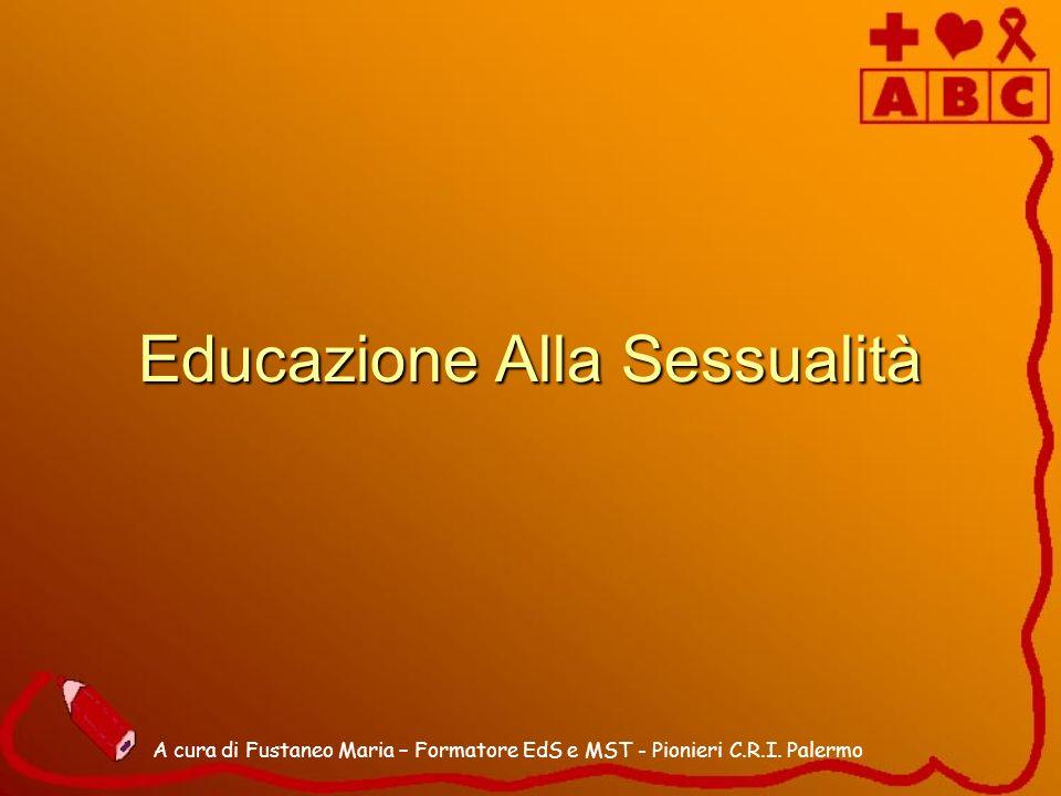 Educazione Alla Sessualità A cura di Fustaneo Maria – Formatore EdS e MST - Pionieri C.R.I. Palermo