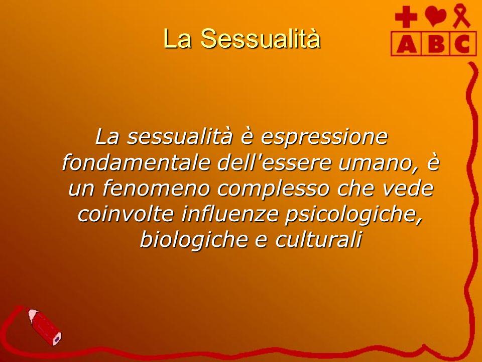 La Sessualità La sessualità è espressione fondamentale dell'essere umano, è un fenomeno complesso che vede coinvolte influenze psicologiche, biologich