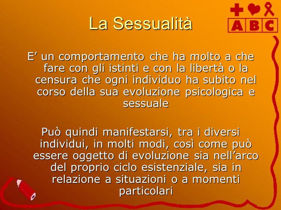 La Sessualità E un comportamento che ha molto a che fare con gli istinti e con la libertà o la censura che ogni individuo ha subito nel corso della su