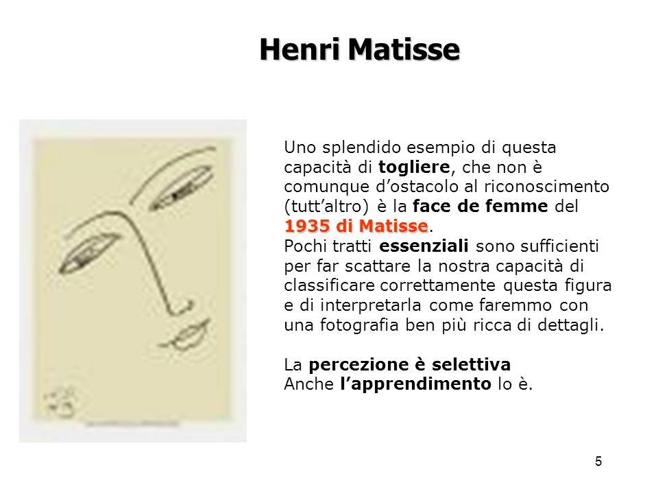 5 1935 di Matisse Uno splendido esempio di questa capacità di togliere, che non è comunque dostacolo al riconoscimento (tuttaltro) è la face de femme