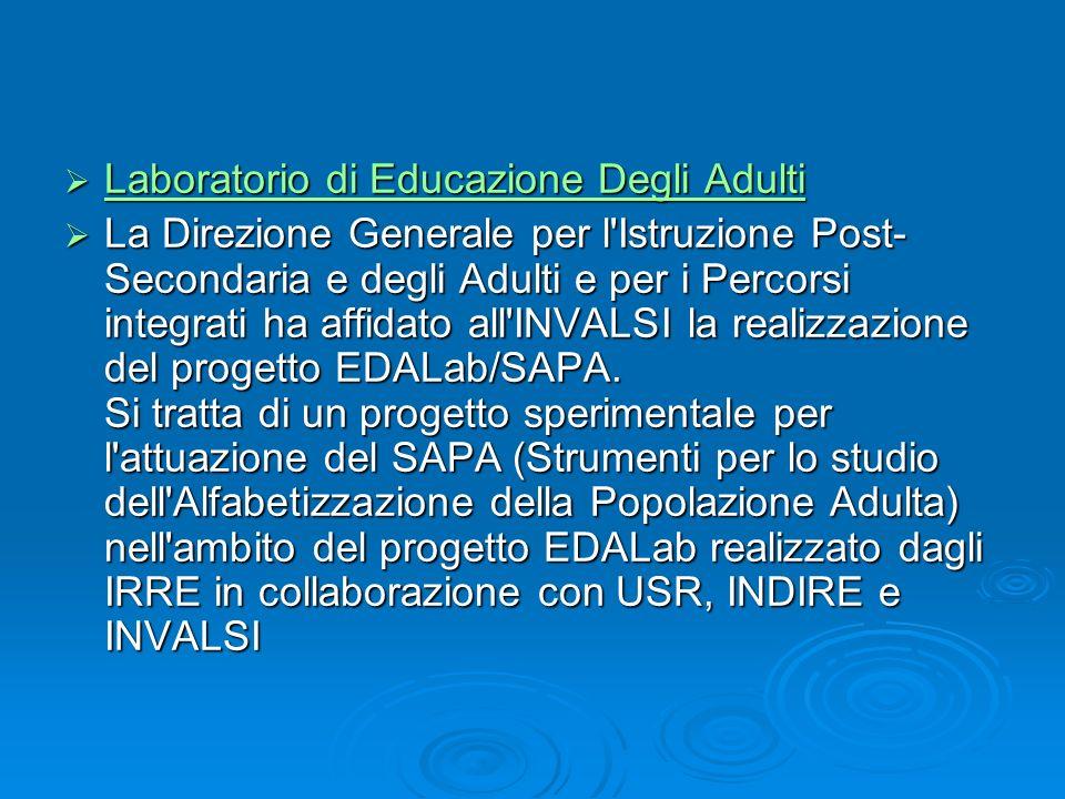Laboratorio di Educazione Degli Adulti Laboratorio di Educazione Degli Adulti Laboratorio di Educazione Degli Adulti Laboratorio di Educazione Degli A