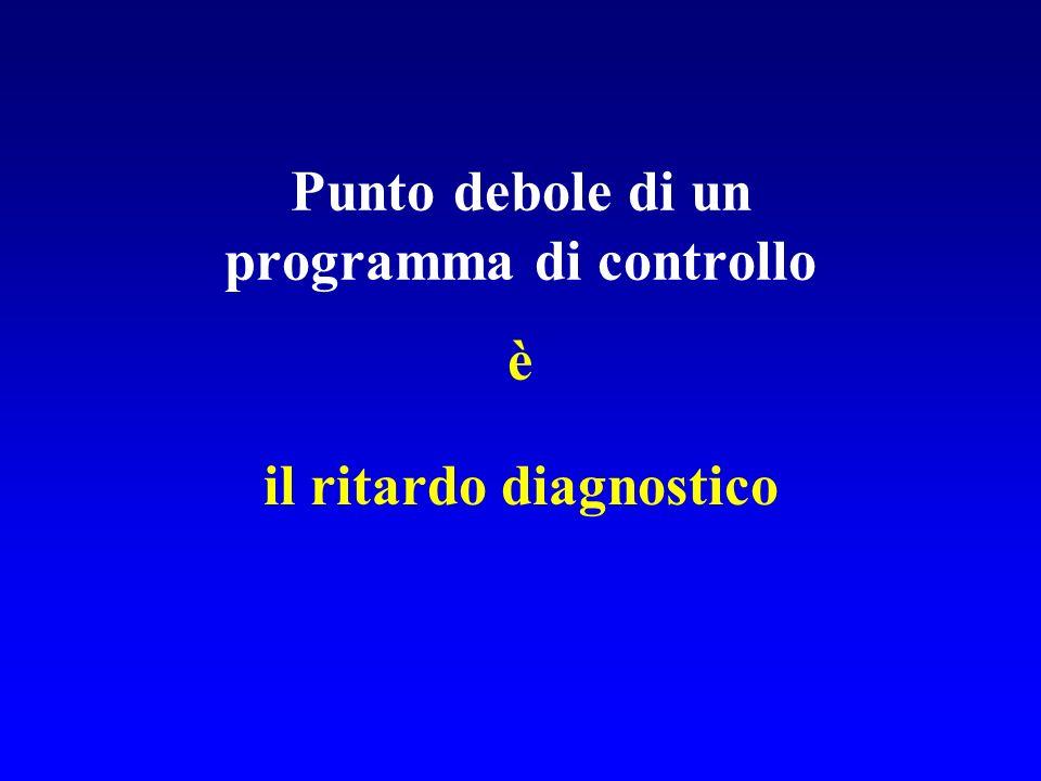Punto debole di un programma di controllo è il ritardo diagnostico