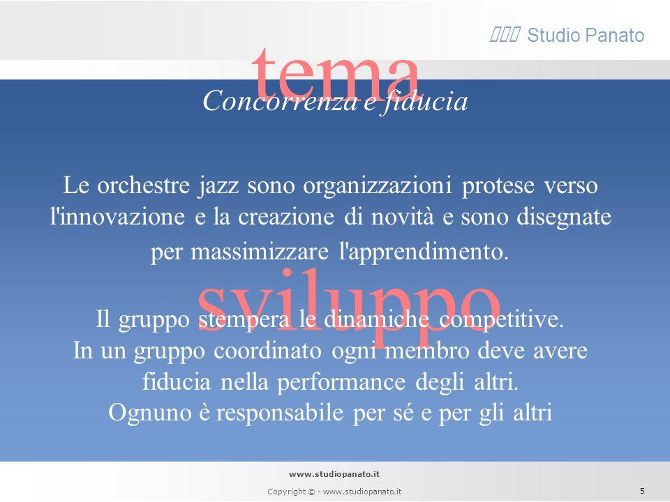 www.studiopanato.it Copyright © - www.studiopanato.it 4 sviluppo Cè chi definisce gli obiettivi e li scandisce fino alla fine dando il tema. Cè chi st