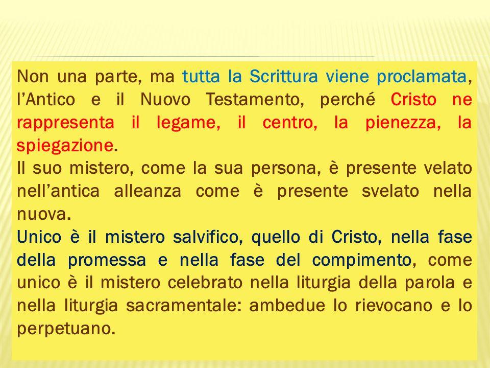 Scelta delle Letture in forma libera Non è prevista, salvo casi eccezionali, per le domeniche, per non snaturare il carattere di un tempo liturgico e per non interrompere la lettura semicontinua di un libro.