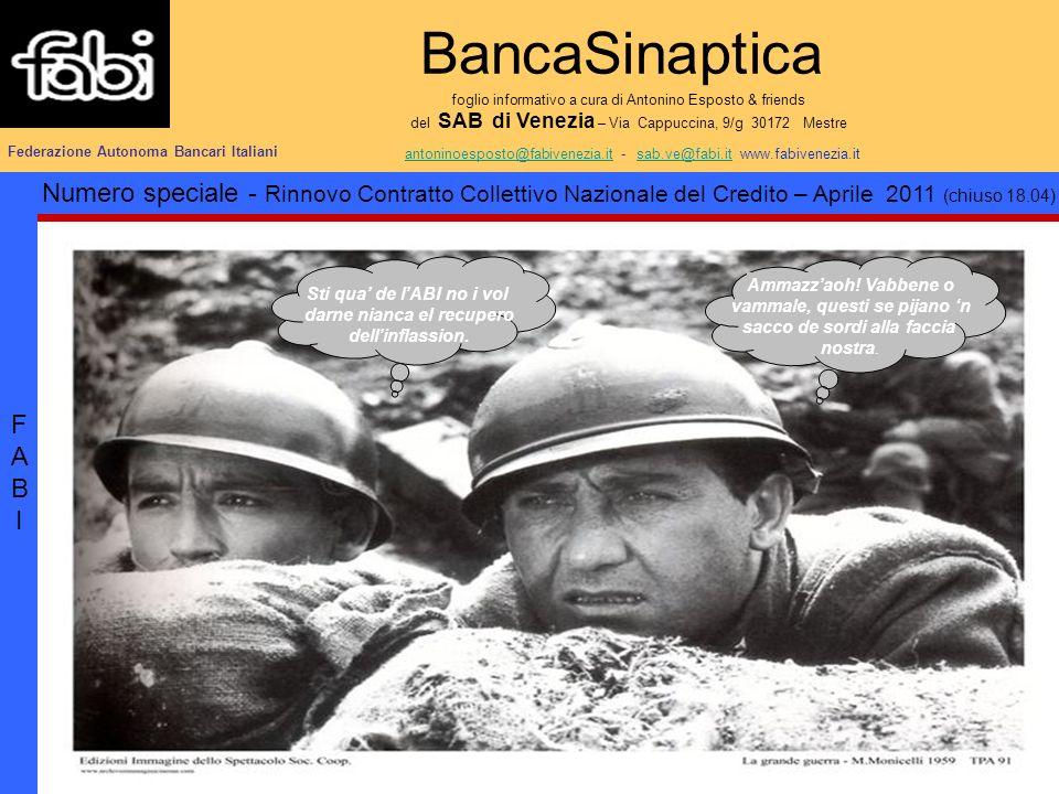 BancaSinaptica foglio informativo a cura di Antonino Esposto & friends del SAB di Venezia – Via Cappuccina, 9/g 30172 Mestre antoninoesposto@fabivenez