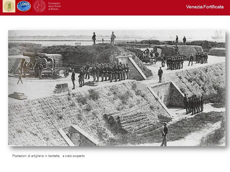 Venezia Fortificata Postazioni di artiglieria in barbetta, a cielo scoperto
