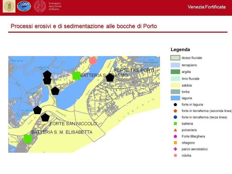Venezia Fortificata Processi erosivi e di sedimentazione alle bocche di Porto