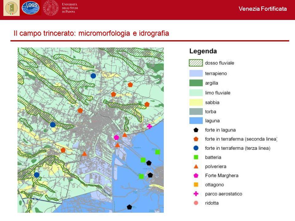 Venezia Fortificata Il campo trincerato: micromorfologia e idrografia