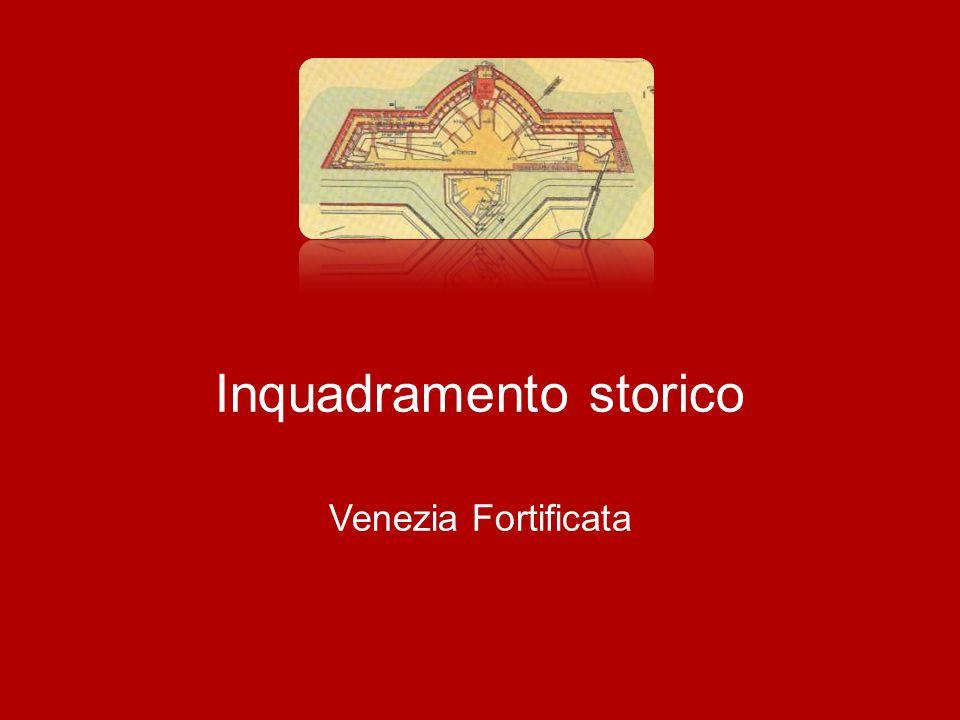 Venezia Fortificata Punti di debolezza della Piazza I punti di debolezza sono individuati nella inadeguatezza delle fortificazioni in termine di protezione e distanza reciproca