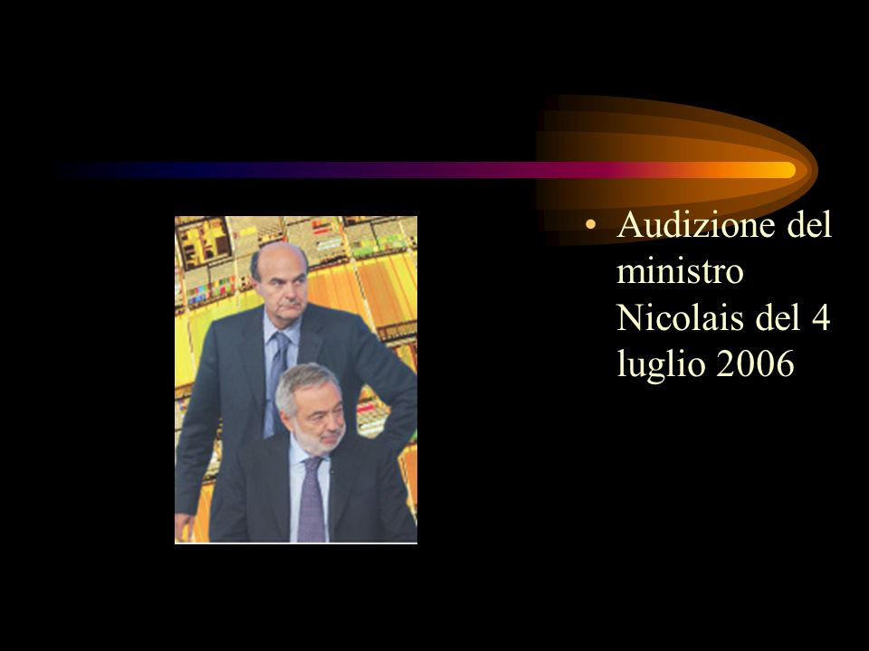 Audizione del ministro Nicolais del 4 luglio 2006