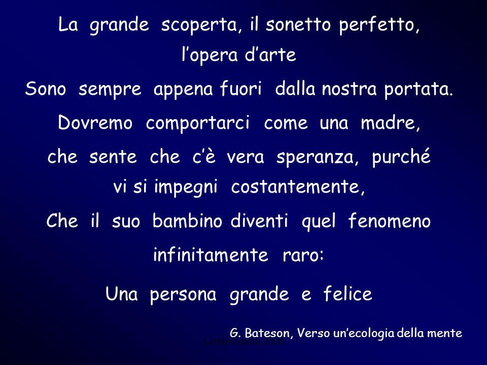 Lerida Cisotto, 2008 La grande scoperta, il sonetto perfetto, lopera darte Sono sempre appena fuori dalla nostra portata. Dovremo comportarci come una