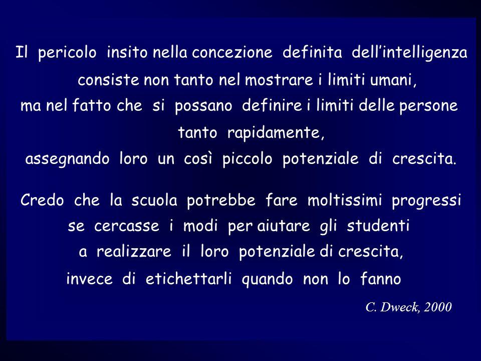 Lerida Cisotto, 2008 Il pericolo insito nella concezione definita dellintelligenza consiste non tanto nel mostrare i limiti umani, ma nel fatto che si