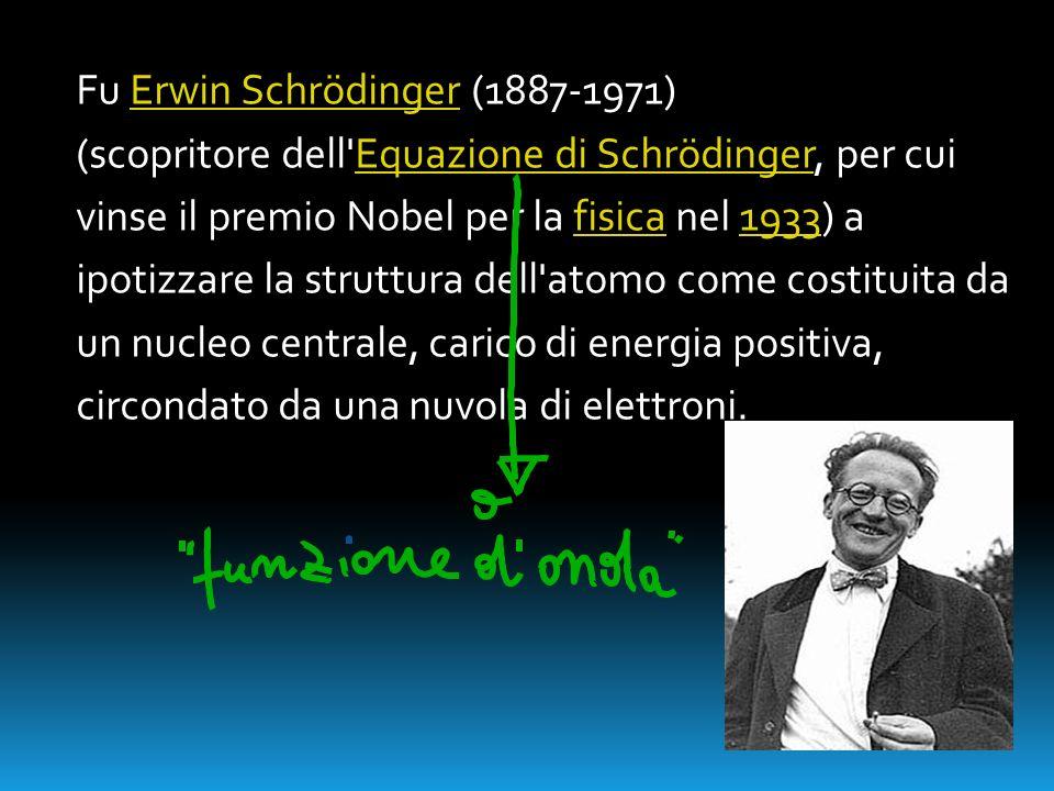 Fu Erwin Schrödinger (1887-1971)Erwin Schrödinger (scopritore dell'Equazione di Schrödinger, per cuiEquazione di Schrödinger vinse il premio Nobel per