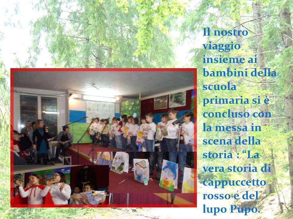 Il nostro viaggio insieme ai bambini della scuola primaria si è concluso con la messa in scena della storia : La vera storia di cappuccetto rosso e de