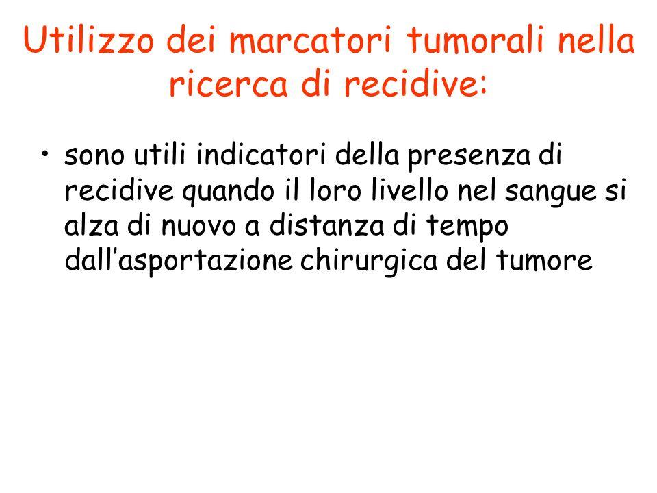 Utilizzo dei marcatori tumorali nella ricerca di recidive: sono utili indicatori della presenza di recidive quando il loro livello nel sangue si alza