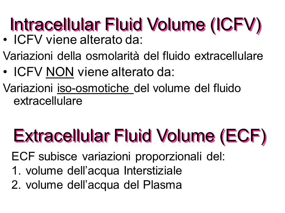 I Fluidi extracellulari: porte di Ingresso e di Uscita Acqua del Plasma: 1.I nutrienti assorbiti raggiungono le cellule attraverso il plasma 2.I prodo