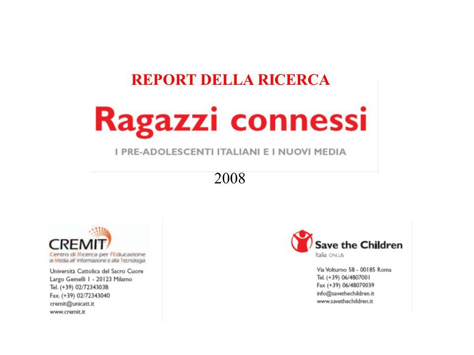 2008 REPORT DELLA RICERCA