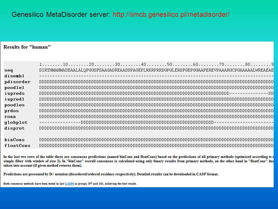 Genesilico MetaDisorder server: http://iimcb.genesilico.pl/metadisorder/