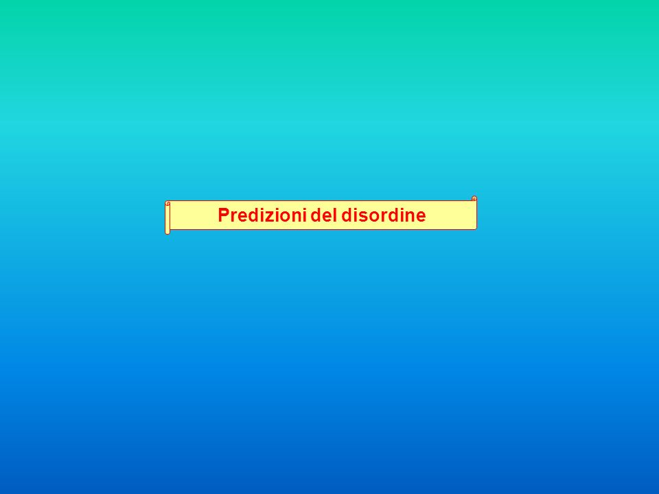 Predizioni del disordine