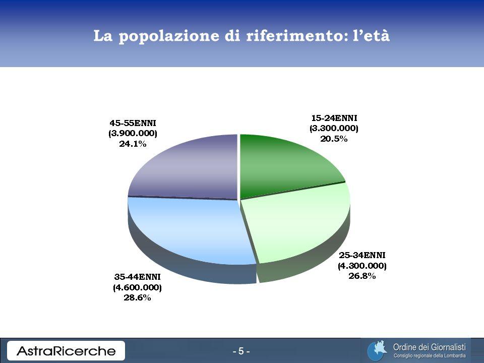 - 5 - La popolazione di riferimento: letà