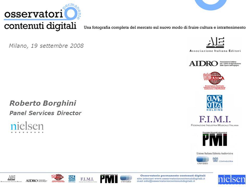 Milano, 19 settembre 2008 Roberto Borghini Panel Services Director