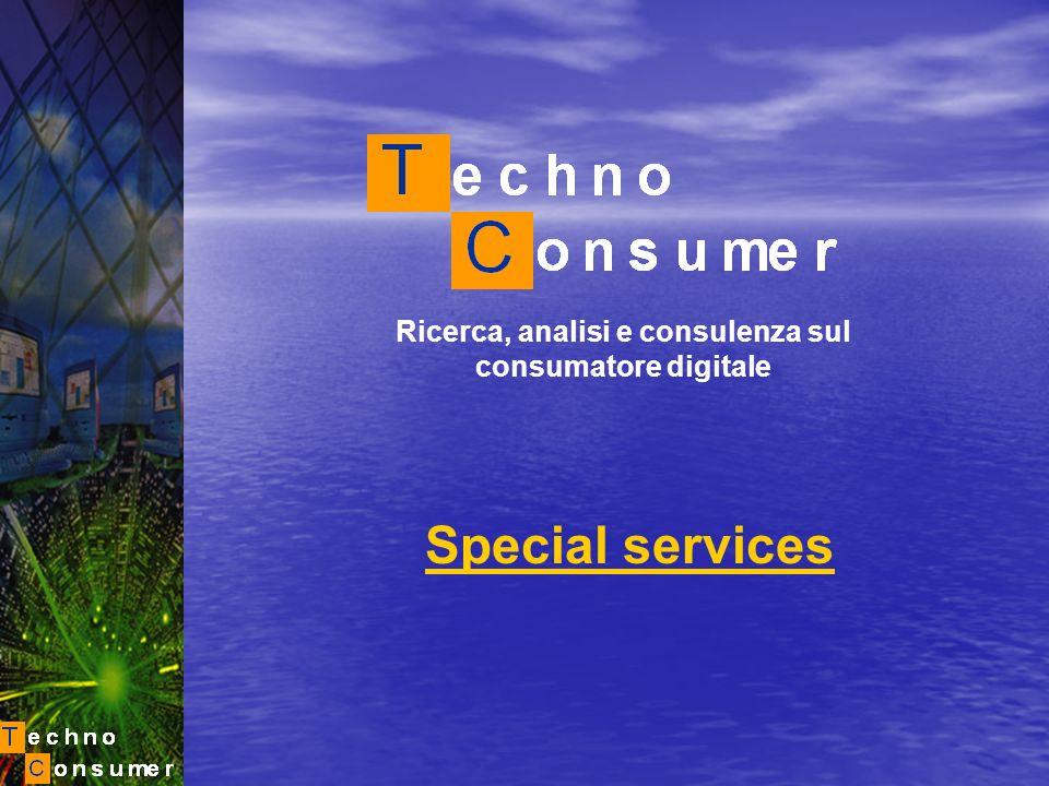 Ricerca, analisi e consulenza sul consumatore digitale Special services
